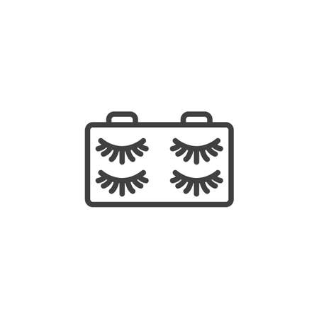 False eyelash line icon. linear style sign for mobile concept and web design. Eyelashes outline vector icon. Symbol, logo illustration. Vector graphics