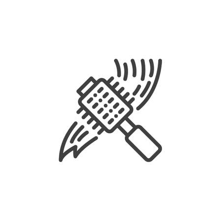 Hair brushing comb line icon. linear style sign for mobile concept and web design. Hair brush outline vector icon. Symbol, logo illustration. Vector graphics