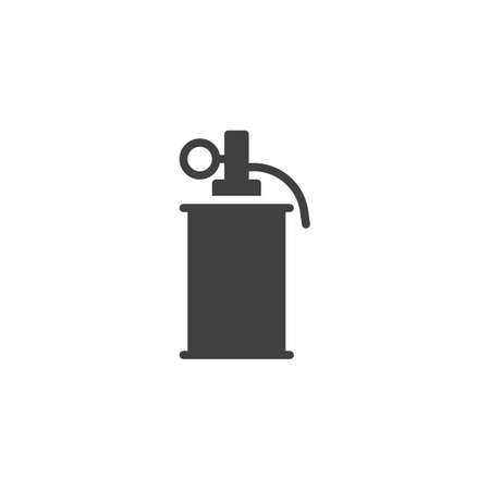 Smoke grenade vector icon. filled flat sign for mobile concept and web design. Police smoke grenade glyph icon. Symbol, logo illustration. Vector graphics