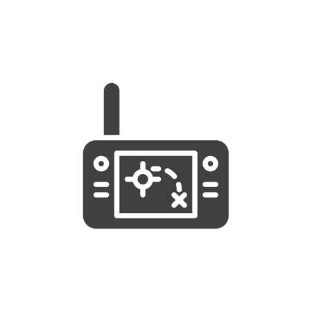 Handheld radar vector icon. filled flat sign for mobile concept and web design. Military remote control glyph icon. Symbol, logo illustration. Vector graphics 矢量图像