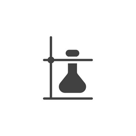Lab flask vector icon. filled flat sign for mobile concept and web design. Lab Experiment glyph icon. Symbol, illustration. Vector graphics