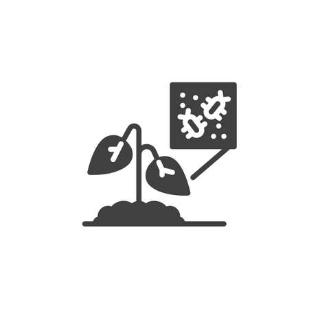Plant pests vector icon. filled flat sign for mobile concept and web design. Plant Disease glyph icon. Symbol, logo illustration. Vector graphics