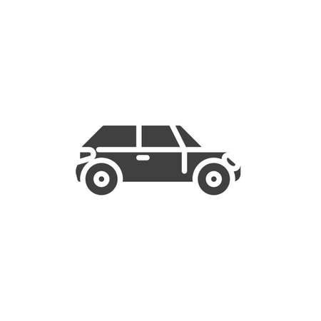 Car side view vector icon. filled flat sign for mobile concept and web design. Auto, transportation glyph icon. Symbol, logo illustration. Vector graphics