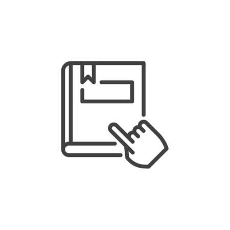 Reading book line icon. linear style sign for mobile concept and web design. ebook reading outline vector icon. Symbol,  illustration. Vector graphics