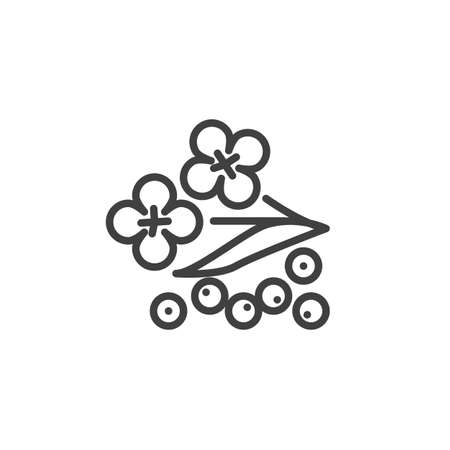 Mustard flower line icon. linear style sign for mobile concept and web design. Mustard herb outline vector icon. Symbol, logo illustration. Vector graphics