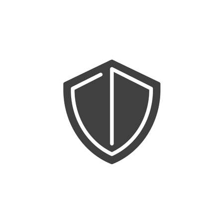 Protection shield vector icon. filled flat sign for mobile concept and web design. Security shield glyph icon. Symbol, logo illustration. Vector graphics