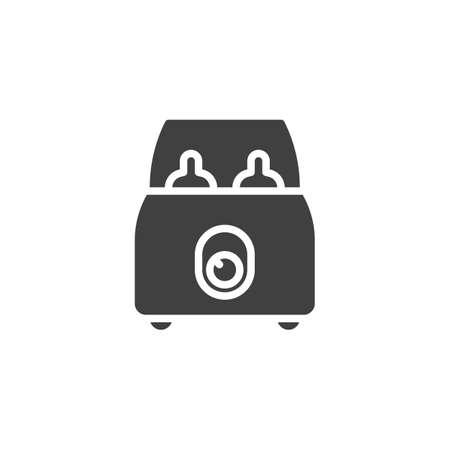 Baby bottle sterilizer vector icon