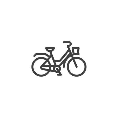 Retro bicycle line icon