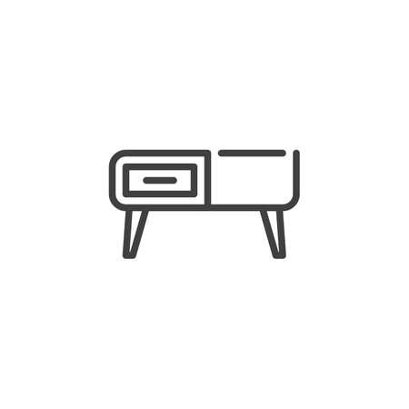 Retro sideboard line icon