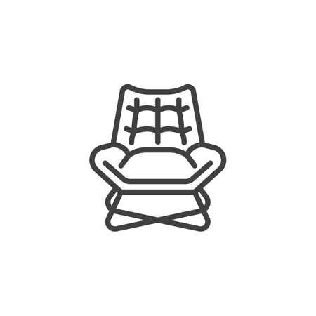 Vintage armchair line icon