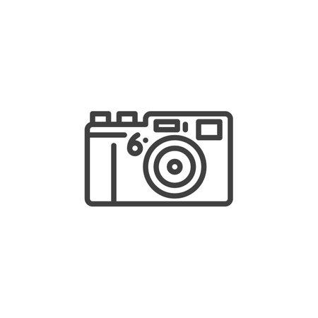 Photo camera line icon
