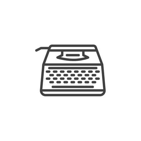 Typewriter machine line icon