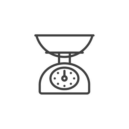 Kitchen scales line icon