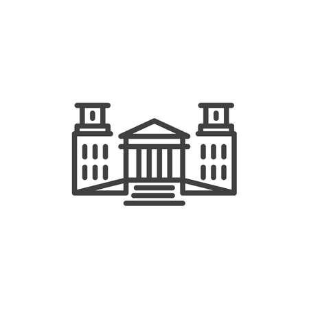 Government building line icon Vector Illustratie