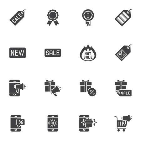 E-commerce online shopping vector icons set