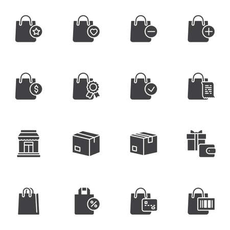 Shopping and ecommerce vector icons set