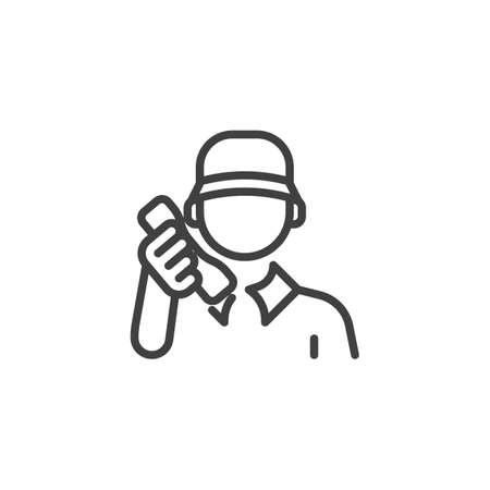 Delivery man line icon Vettoriali