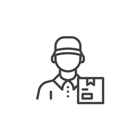 Courier shipping service line icon Vettoriali