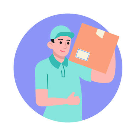 Courier delivery box vector illustration