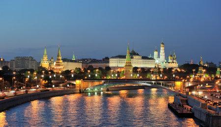 Night Moscow, the Kremlin views