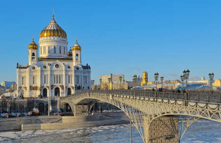 Cathedral of Christ the Savior and the Patriarchal bridge photo