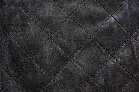 斜めステッチ グレー天然皮革