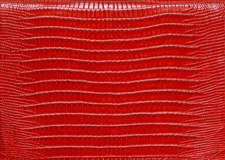 rigidity: Texture of genuine leather red Stock Photo