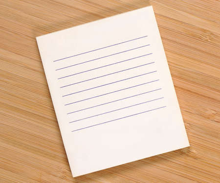 numbering: Clean shopping list on the bamboo  Stock Photo