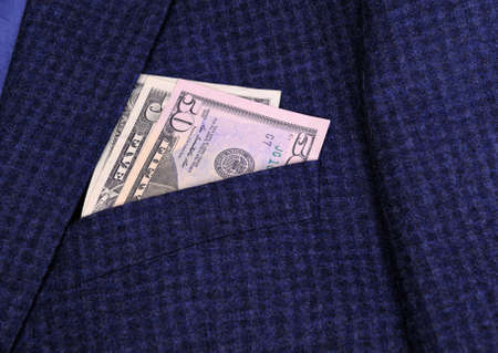 woolen cloth: Dollars in pocket jacket