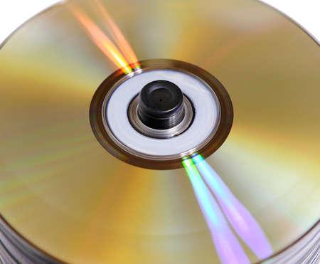 mass storage: Laser disk Stock Photo