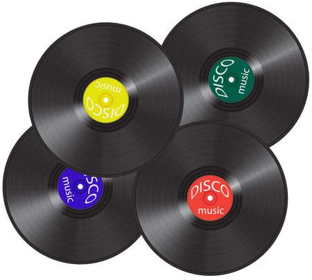 Four vinil records