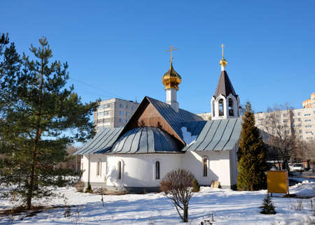 panteleimon: Temple of great martyr and healer Panteleimon in Zhukovsky, Russia