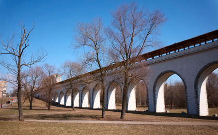 rebuilt: Rostokino Aqueduct, also known as Millionny Bridge, the oldest bridge in Moscow, not rebuilt since 1804