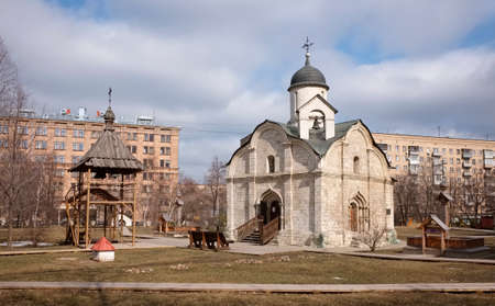 15th century: Temple of the holy martyr and Wonderworker Tryphon in Naprudnom, Moscow, 15th century