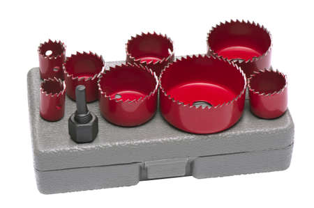 tool chuck: Set Crowns for drilling round holes in drywall and wood, shallow DOF