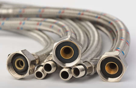 Flexible hoses Stock Photo