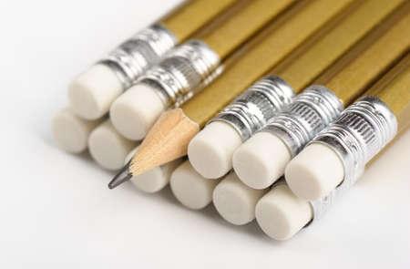 grafit: Graphite pencils close-up, shallow DOF