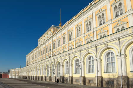 Grand Kremlin Palace, founded by Emperor Nicholas I, was built in 1838-1849 years, the object of cultural heritage, landmark Editorial