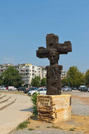 Montenegro Podgorica August 10 2017 Monument To Nikola Tesla