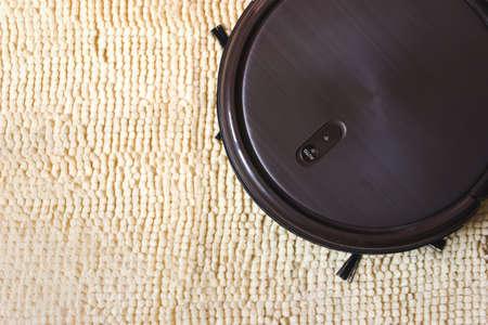 Robot vacuum cleaner automate clean floor machine. Smart home