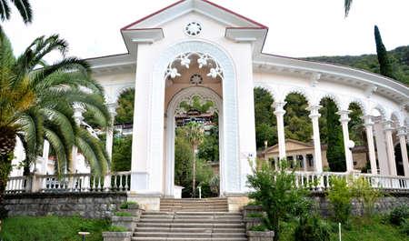 abkhazia: View of the Gagra colonnade. Gagra, Abkhazia