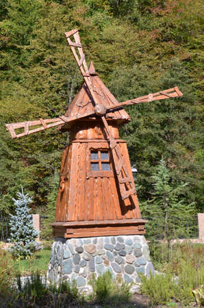ethnographic: CULTURAL - ETHNOGRAPHIC CENTER MY RUSSIA, ROSE FARM, SOCHI RUSSIA OCTOBER 2015: View of the building symbolizes the Russian north, Krasnaya Polyana, Sochi, Russia.