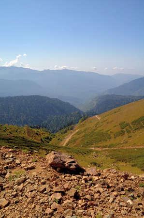 Вид на горные хребты Абхазии, Сочи, Россия Фото со стока - 53545875