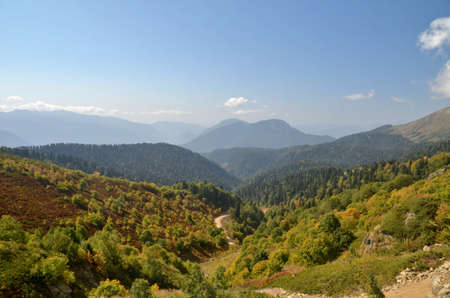 View of the mountain ranges of Abkhazia, Sochi, Russia Фото со стока - 53545878