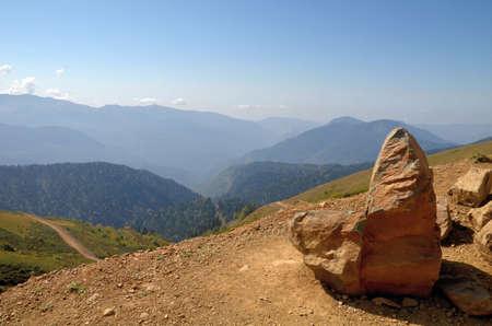 Вид на горные хребты Абхазии, Сочи, Россия Фото со стока - 53545883