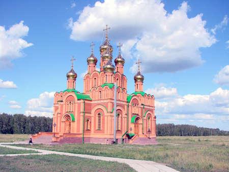 Chapel in Achair monastery, Omsk region, Siberia, Russia                                Reklamní fotografie