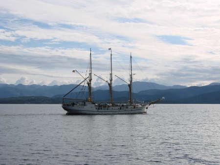 Yacht in Lisefiord Фото со стока - 101725186