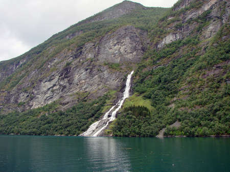 Waterfall Geyranger fjord, Norway