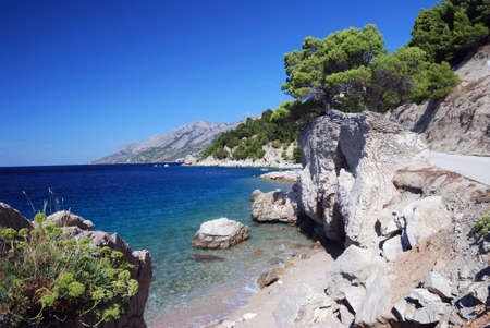 Beach view of Brela, Croatia