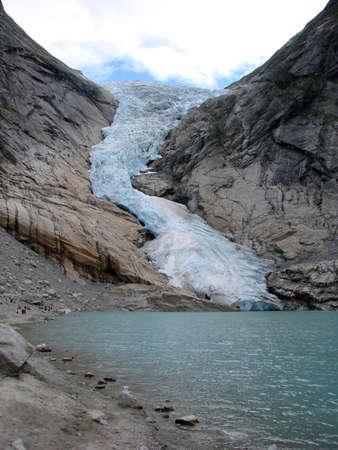 Glacier Briksdal, Norway Фото со стока - 101749484